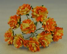 APRICOT YELLOW ASTER Daisy (1.3 cm) Mulberry Paper Flowers
